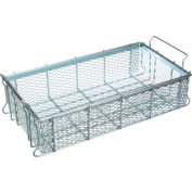 "Marlin Steel Material Handling Basket 24""L x 13-1/4""W x 5-7/16""H - 0.5"" Wire - Plain Steel"