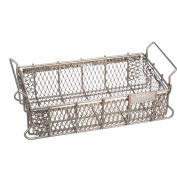 "Marlin Steel Material Handling Basket 16""L x 10""W x 3-15/16""H - 0.5"" Wire - Stainless Steel"