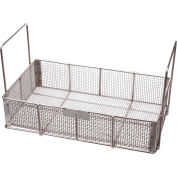 "Marlin Steel Wire Basket 19""L x 11""W x 4-1/2""H 0.25"" Wire - Stainless Steel - Price Each for Qty 1-4"