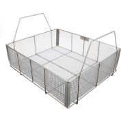 "Marlin Steel Wire Basket 23""L x 19""W x 6-1/2""H 0.25"" Wire - Stainless Steel - Price Each for Qty 5+"