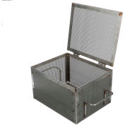 """Marlin Steel Perforated Basket 10-9/16""""L x 8-7/16""""W x 6-1/4""""H Plain Steel - Price Each for Qty 5+"""