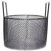 Marlin Steel Stainless Mesh Basket Usable 12x8, Round, #4 Mesh, Price Each for Qty 1-4