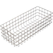 """Marlin Steel 316 Wire Basket 20-1/4""""L x 8-1/8""""W x 6""""H - Stainless Steel - Price Each for Qty 1-4"""
