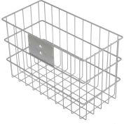 """Marlin Steel Wire Mounting Mesh Basket 02035005-04 - 14""""L x 7""""W x 9""""H Plain Steel, Gray"""