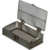 """Marlin Steel Mesh Basket w/ Lid Stainless Steel 10-1/4""""L x 5-5/8""""W x 2-1/2""""H, Price Each for Qty 1-4"""