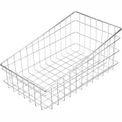"Marlin Steel Slanted Basket 138-12 - Chrome Plated Steel - 17-7/8""L x 11""W x 8""H - Pkg Qty 8"