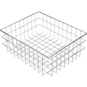 "Marlin Steel Wire Basket 279001-12 - Nickel Plated Steel - 16""L x 13""W x 6""H"