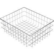 """Marlin Steel Wire Basket 279001-12 - Nickel Plated Steel - 16""""L x 13""""W x 6""""H"""