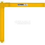 Gorbel® HD Mast Type Jib Crane, 18' Span & 12' OAH, Full Cantilever, 2000 Lb Cap