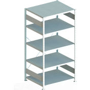 "Meta Storage 183073 CLIP S3 Basic Rack Unit 51""W x 31""D x 79""H  (5xV230 shelves) Galvanized"