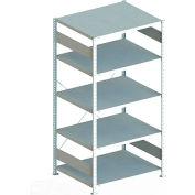 "Meta Storage 183869 CLIP S3 Basic Rack Unit 51""W x 32""D x 73""H (5xV230 Shelves) Galvanized"