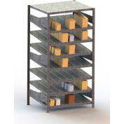 "Meta Storage Boltless Inclined Starter Unit, 8 Level, 441 Lbs. Cap., 39""W x 20""D x 79""H, Galvanized"