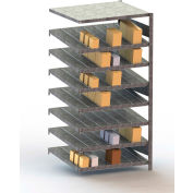 "Meta Storage Boltless Inclined Add-On Unit, 8 Level, 441 Lbs. Cap., 39""W x 20""D x 79""H, Galvanized"