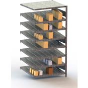 "Meta Storage Boltless Inclined Add-On Unit, 8 Level, 441 Lbs. Cap., 39""W x 32""D x 79""H, Galvanized"