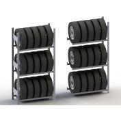 "Meta Storage Boltless Tire Rack Starter Unit, 3 Level, 331 Lbs. Cap., 39""W x 16""D x 79""H, Galvanized"