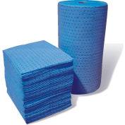 """MBT Blue Fine Fiber Oil-Only Medium Weight Pads 100/Bale 18"""" x 15"""""""