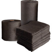 "Universal Fine Fiber Absorbent Pads, Medium Weight, 18"" x 15"", Gray, 100/Bale"