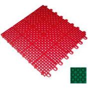 "Mateflex II Outdoor Tennis Tile 350012, 12""L X 12""W, Bright Green"