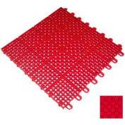"Mateflex II Outdoor Tennis Tile 350028, 12""L X 12""W, Bright Red"