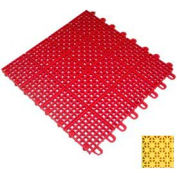 """Mateflex II Outdoor Tennis Tile 350063, 12""""L X 12""""W, Yellow"""