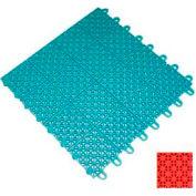 "Mateflex III Outdoor Swimming Pool Decking Tile 351323, 12""L X 12""W, Orange"
