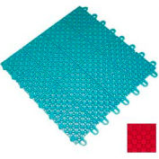 "Mateflex III Outdoor Swimming Pool Decking Tile 351328, 12""L X 12""W, Bright Red"