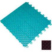 "Mateflex III Outdoor Swimming Pool Decking Tile 351339, 12""L X 12""W, Chocolate"