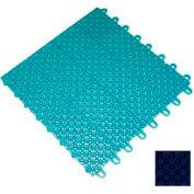 "Mateflex III Outdoor Swimming Pool Decking Tile 351343, 12""L X 12""W, Navy Blue"