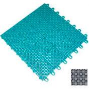 "Mateflex III Outdoor Swimming Pool Decking Tile 351350, 12""L X 12""W, Stone Gray"