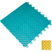 "Mateflex III Outdoor Swimming Pool Decking Tile 351363, 12""L X 12""W, Yellow"