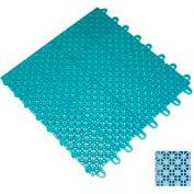 "Mateflex III Outdoor Swimming Pool Decking Tile 351369, 12""L X 12""W, Ice Blue"