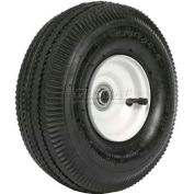 "Martin Wheel 410/350-4 10"" Sawtooth Tread Pneumatic Wheel Assembly 354DC4SW242IP"