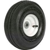 "Martin Wheel 410/350-4 10"" Sawtooth Tread Pneumatic Wheel Assembly 354DC4SW242IP"