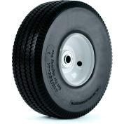 "Martin Wheel 10"" Flat Free Hand Truck Wheel 354DCSWPU242 - 410/350-4 - 2-1/4 x 5/8"" Offset Hub"