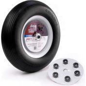 "Martin Wheel 16"" Flat Free Wheelbarrow & Cart Wheel w/Universal Hub 408RBPU31 - 480/400-8, 3/4""BB"