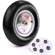 "Martin Wheel 16"" Wheelbarrow & Garden Cart Wheel w/Universal Hub 408TTRIB32 - 480/400-8, 5/8""BB"