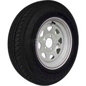 Martin Wheel 205/75R-15 Radial Trailer Tire & Custom Spoke Wheel Assembly DM205R5C-5CI