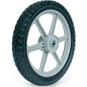 "Martin Wheel Plastic Spoke Semi-Pneumatic Wheel PLSP14D175 - 14X1.75, 2-3/8"" Centered Hub, 1/2""BB"