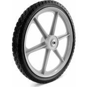 "Martin Wheel Plastic Spoke Semi-Pneumatic Wheel PLSP16D175 - 16X1.75, 2-3/8"" Centered Hub, 1/2""BB"