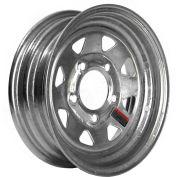Martin Wheel R-125S-G 5-Hole Galvanized Steel Trailer Wheel - 12 x 4 (5/4.5)