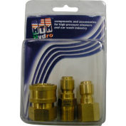 """MTM Hydro 4200 psi 3/8"""" Brass Quick Coupler and Plug Pack"""