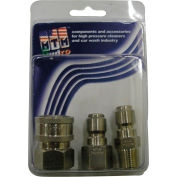"MTM Hydro 7500 psi 1/4"" Stainless Steel Coupler and Plug Pack"