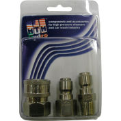 "MTM Hydro 6300 psi 1/4"" Stainless Steel Coupler and Plug Pack"