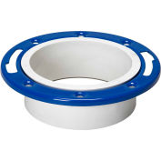 Mueller 05226 4 In. PVC Closet Flange Adjustable W/Metal Ring Epoxy Coated - Hub - Pkg Qty 25