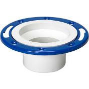 Mueller 05229 4 In. PVC Closet Flange Spigot Adjustable W/Metal Ring Epoxy Coated - Spigot