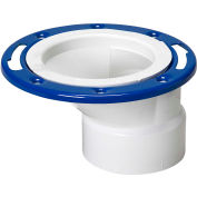 Mueller 05920 4 In. X 3 In. PVC Offset Closet Flange Adjustable W/Metal Ring Epoxy Coated - Hub - Pkg Qty 15