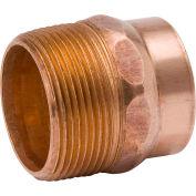Mueller A 07012 1-1/4 In. Wrot Copper DWV Male Adapter - Copper X Male Adapter