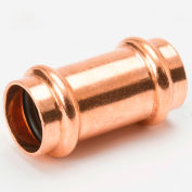 """Mueller PRS Fittings 1"""" Copper Press X Press W/Coupling With Stop - Pkg Qty 5"""