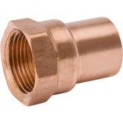 Mueller W 01231 1/2 In. Wrot Copper Female Adapter - Copper X FPT