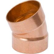 Mueller W 07060 1-1/2 In. Wrot Copper 22-1/2 Degree DWV Elbow - Copper